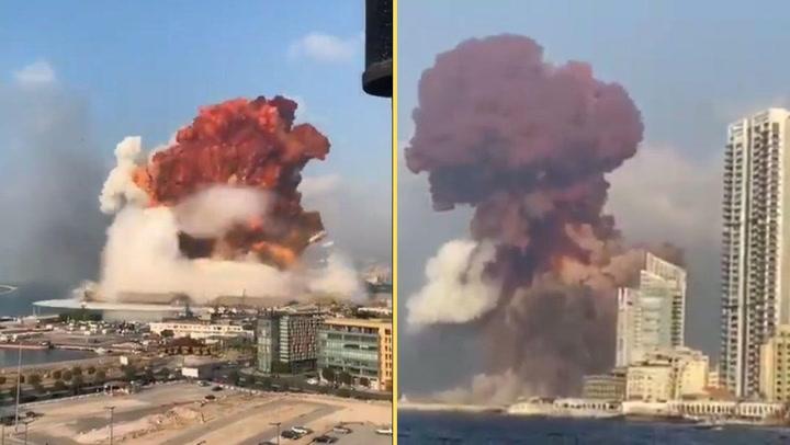 Una impresionante doble explosión destruye la zona portuaria de Beirut