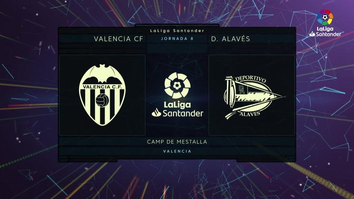 LaLiga (J8): Resumen y goles del Valencia 2-1 Alavés