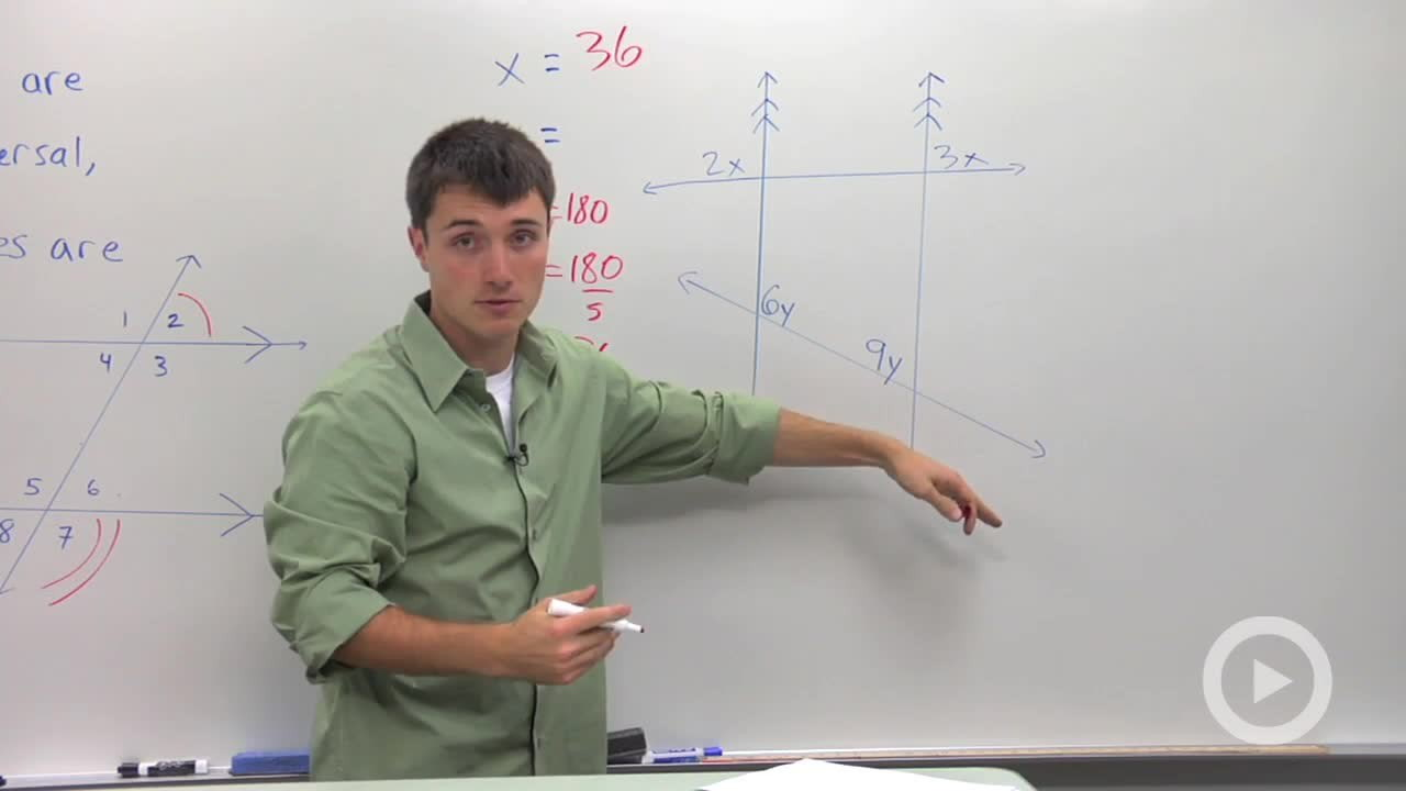 Same Side Interior And Same Side Exterior Angles   Problem 2   Geometry  Video By Brightstorm