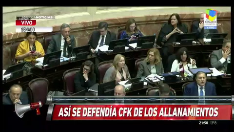 El Senado aprobó los allanamientos a Cristina sin condiciones al juez