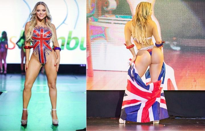 Jessica Lopes, Miss Bumbum de Reino Unido, se desnudará si el Chelsea es campeón de la Champions