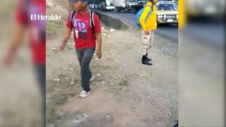 Motociclista se accidenta en la colonia Cerro Grande de Tegucigalpa