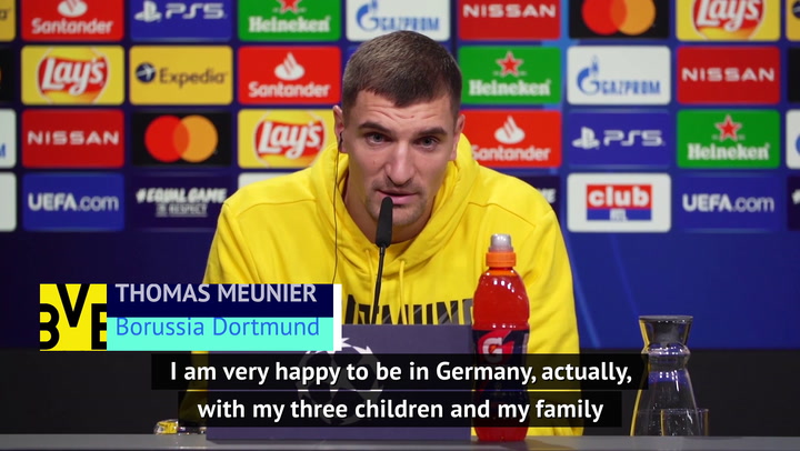 Meunier 'happy' to be in Germany rather than homeland during COVID pandemic