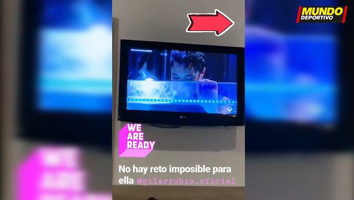 Sergio Ramos no se quiso perder el reto de Pilar Rubio en el Hormiguero