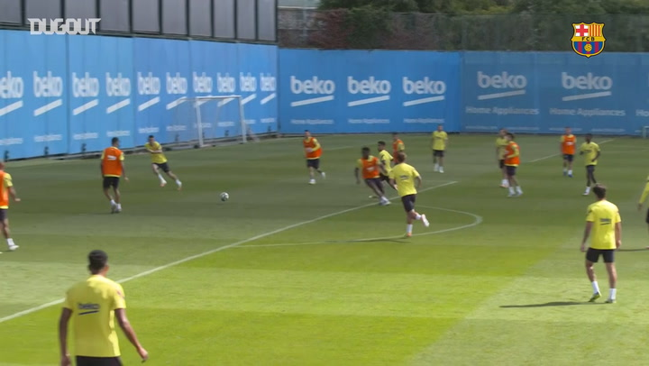 Barcelona's last session ahead of Villarreal clash