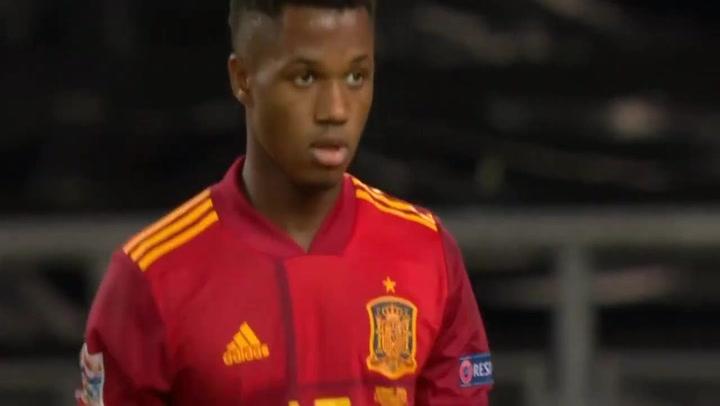 Así fue el debut de Ansu Fati con España