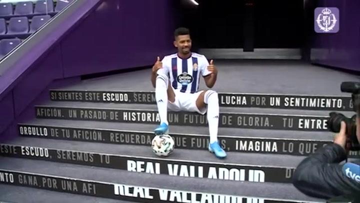 """Matheus, presentado en Valladolid: """"Me ilusiona poder jugar en el Barcelona"""""""