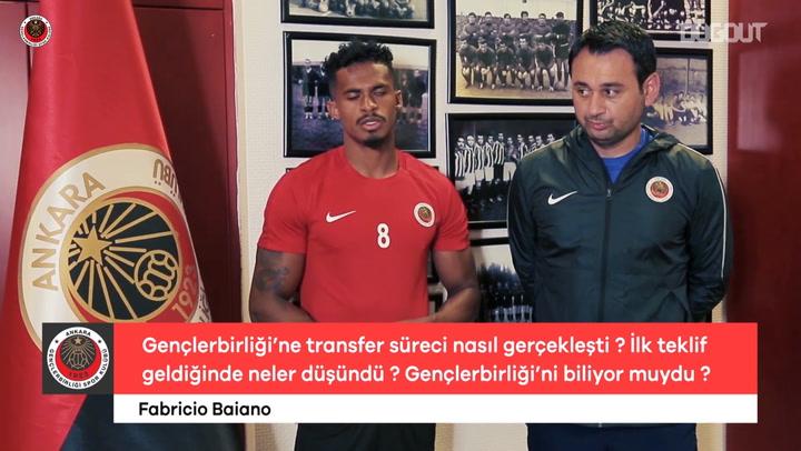 Fabricio Baiano Röportajı