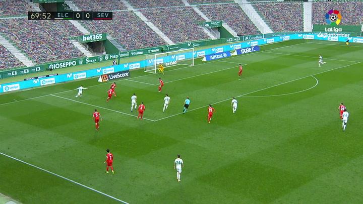 Gol de Raúl Guti (1-0) en el Elche 2-1 Sevilla