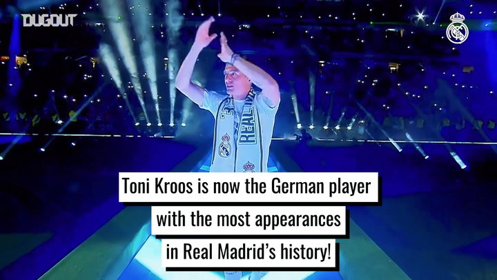 Toni Kroos, the German player with the most appearances in Real Madrid's history