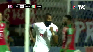 Jerry Bengtson anota el segundo gol de Olimpia vs Marathón| Cortesía