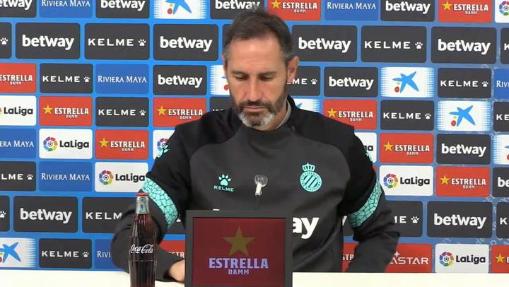Rueda de prensa de Vicente Moreno, previa del Espanyol - Ponferradina