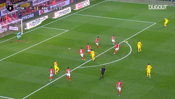 Evgeni Lutsenko caps off team goal vs FC Spartak Moscow