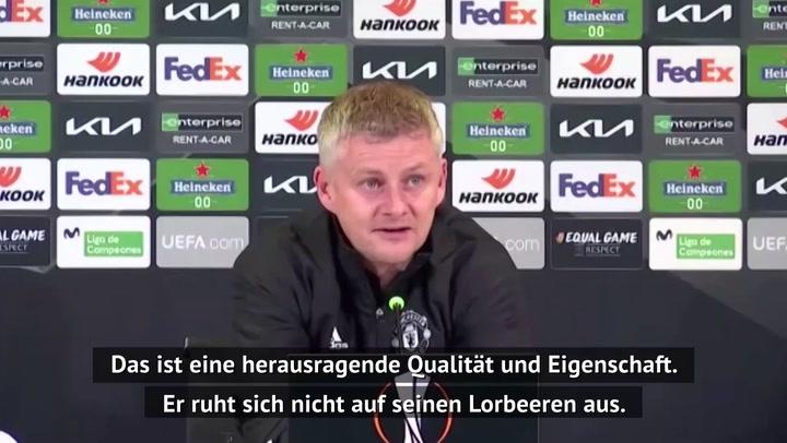 "Solskjaer: ""Bruno Fernandes treibt jeden an"""