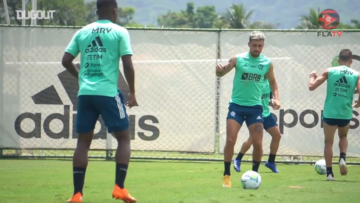 Flamengo's training session before taking on São Paulo