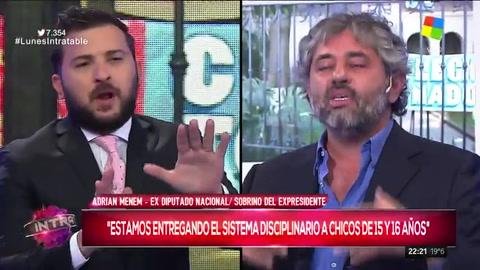 Brancatelli y Adrián Menem se cruzaron en Intratables por la toma de colegios