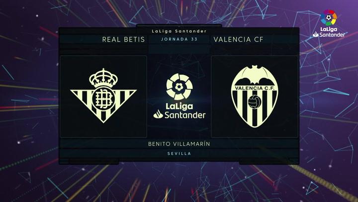 LaLiga Santander (Jornada 33): Betis 2-2 Valencia