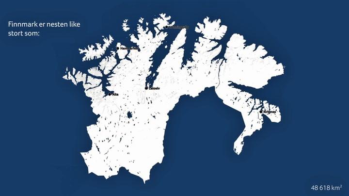 Hvor stort er egentlig Finnmark?