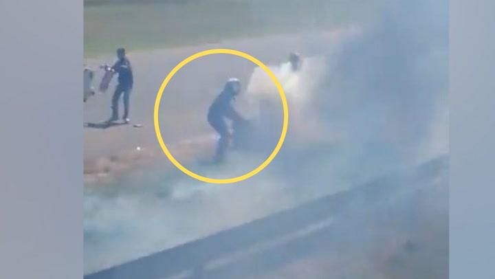 Espeluznante accidente del piloto argentino Hernán Testaseca, que acabó con el coche en llamas