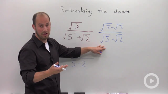 Rationalizing a Denominator with a Binomial - Problem 2