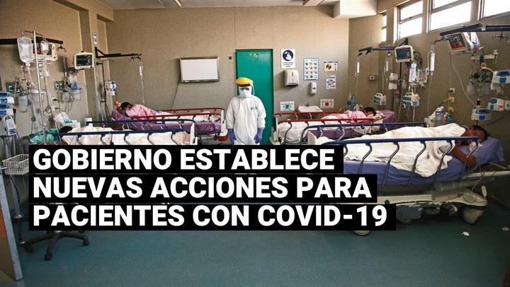 ¿Cuáles son las nuevas acciones tomadas por el Gobierno para los pacientes con COVID-19?