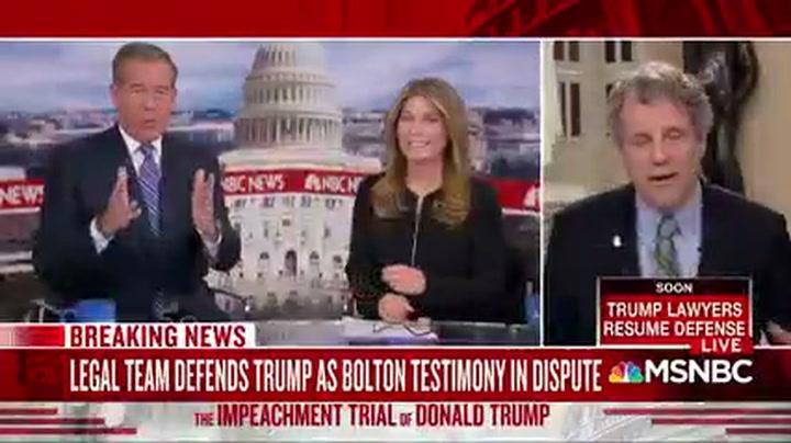 Sherrod Brown: My Senate Colleagues Trust John Bolton More than Donald Trump