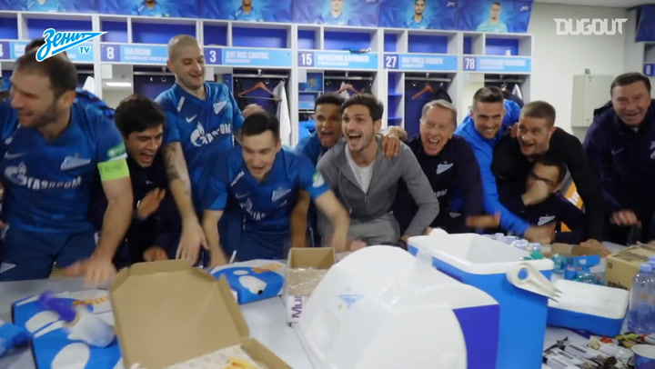Zenit celebrate Spartak win