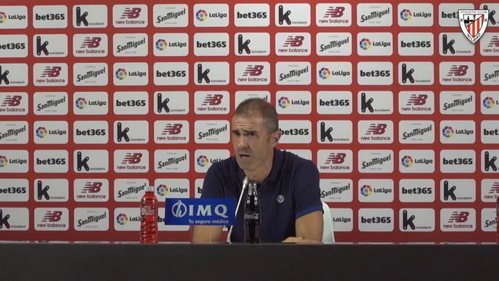 Gaizka Garitano analiza la victoria contra la Real Sociedad