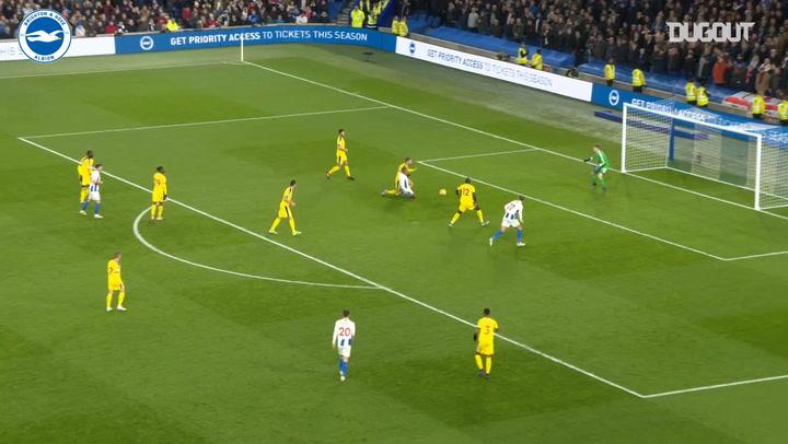 Brighton's first half blitz vs Crystal Palace