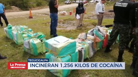 Incineran 1,256 klios de cocaína