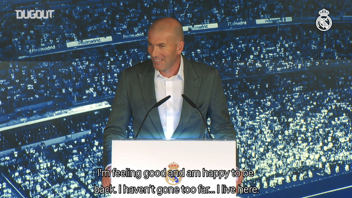 Zidane's First press conference after Real Madrid return