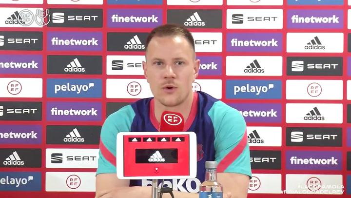 La rueda de prensa completa de Ter Stegen previa a la final de Copa del Rey