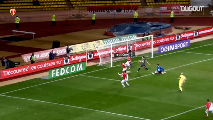 Anthony Martial's first goal at Monaco