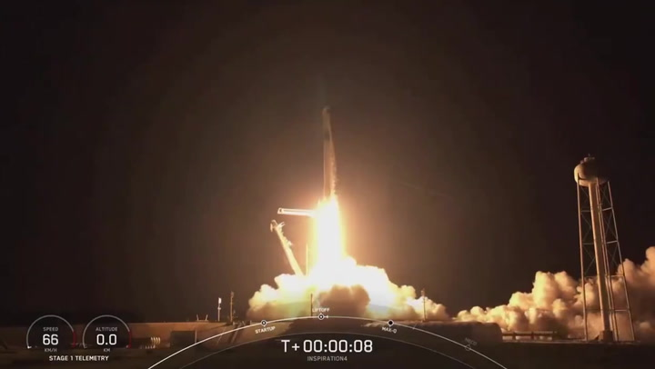 Lift off! Space X launches first all-civilian crew into orbit