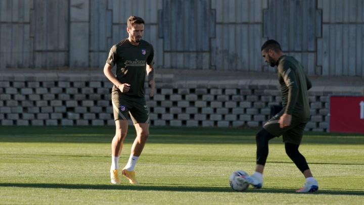 El Atlético de Madrid prepara su partido ante el Celta