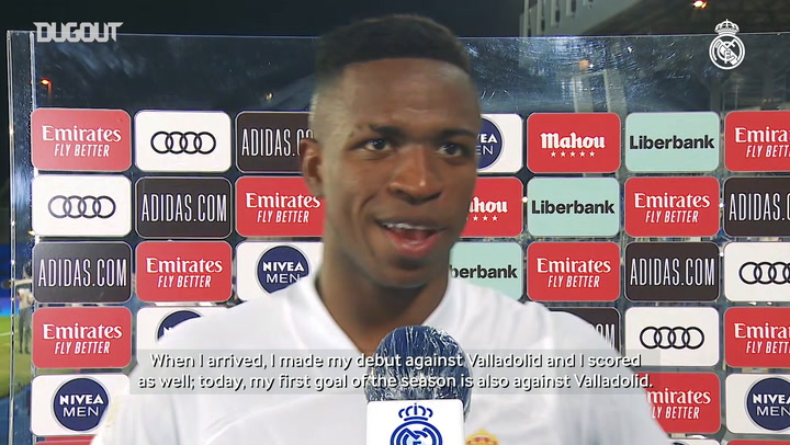 Vinicius Jr happy to grab Valladolid winner