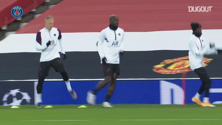 El PSG se entrena en Old Trafford