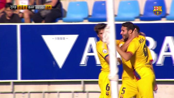 El Barça B arranca la Liga con una gran victoria (0-2)