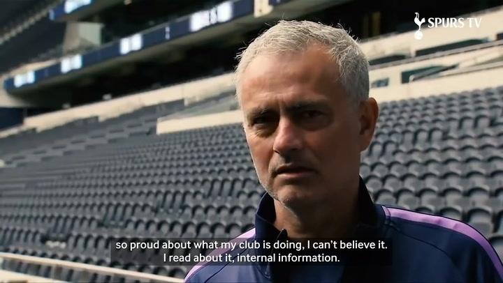 Jose Mourinho visits Spurs' NHS Facility
