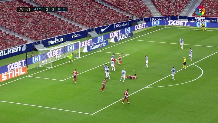 Gol de Koke (1-0) en el Atlético 1-1 Real Sociedad
