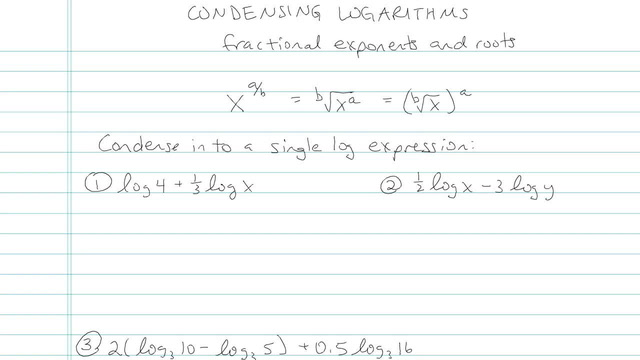 Condensing Logarithms - Problem 5