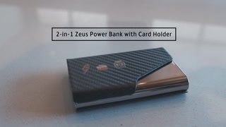 2-in-1 Zeus Power Bank With Card Holder