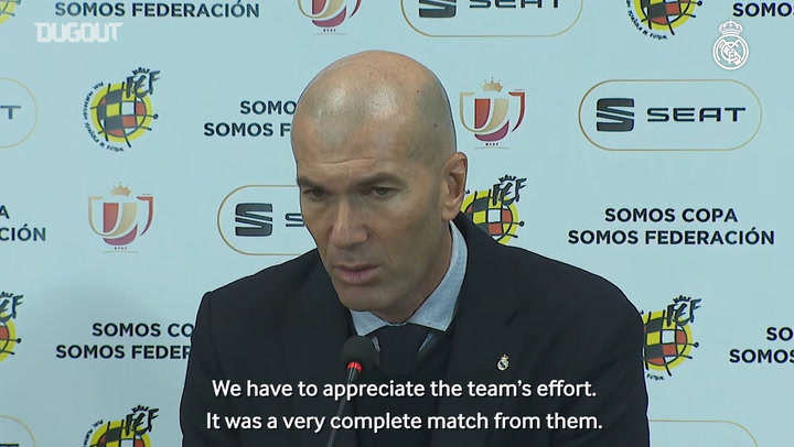 Zidane: 'We changed a few players and the ones that play less turned up'