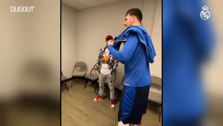 Hazard and Doncic in madridista meet-up in Dallas