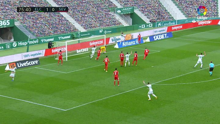 Gol de Carrillo (2-0) en el Elche 2-1 Sevilla
