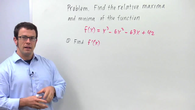 The First Derivative Test for Relative Maximum and Minimum - Problem 1