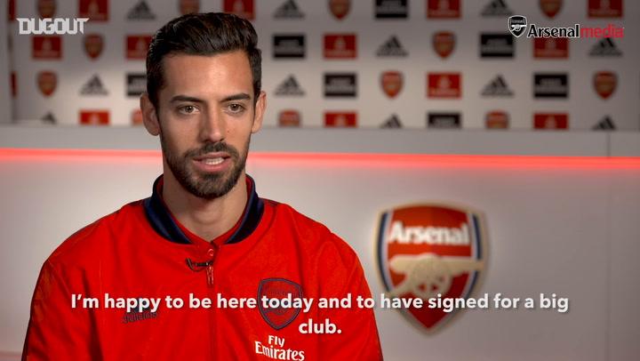 Pablo Mari's first Arsenal interview