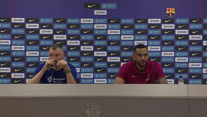 Rueda de prensa de Jasikevicius y Hanga previa al partido de la Copa del Rey