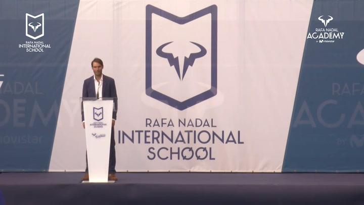 Rafa Nadal felicita a los Graduados del Rafa Nadal International School