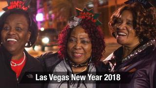 Revelers During Las Vegas New Year 2018